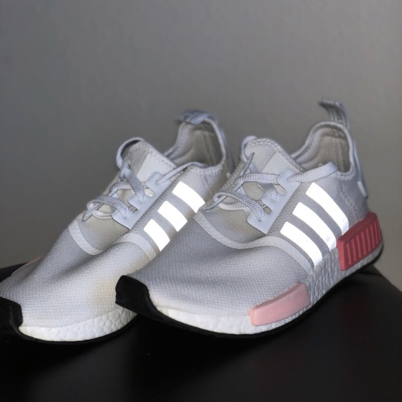 Adidas Shoes Nmd R1 White Rose Womens Size 8 Poshmark